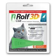 РОЛЬФ КЛУБ 3D Капли от клещей и блох для кошек более 4кг
