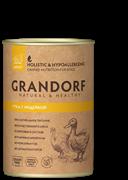 Grandorf консервы для собак Утка c Индейкой