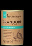 Grandorf консервы для собак Куропатка с Индейкой