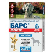 Барс Форте капли д/собак инсектоакарицидные в фипронил, 1,8мл, 4 дозы