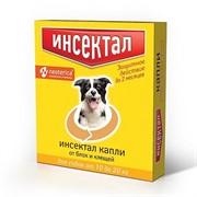 Инсектал капли от клещей и блох для собак 10-20 кг 1,5мл