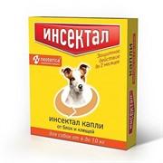 Инсектал капли от клещей и блох для собак 4-10 кг 0,8мл