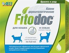 ФИТОДОК капли дерматологические для мелких пород собак и кошек 4 пип. по 0,6 мл