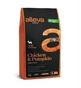 Alleva Natural Adult Chicken & Pumpkin Mini с курицей и тыквой для собак миниатюрных пород