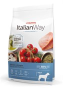 Italian Way безглютеновый, для собак крупных пород с чувствительной кожей, лосось и сельдь 12 кг