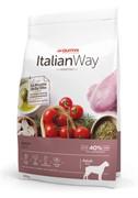 Italian Way беззерновой, для собак крупных пород с чувствительным пищеварением, со свежей уткой 12 кг