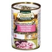 Stuzzy Monoprotein Консервированный корм для взрослых собак (со свежей свининой) 400 гр