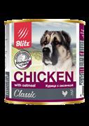 Blitz Classic «Курица с овсянкой» консервированный корм для собак всех пород и возрастов