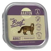 Araton Консервы безглютеновые консервы для взрослых кошек, с говядиной