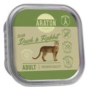 Araton Консервы безглютеновые консервы для взрослых кошек, с уткой и кроликом