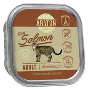 Araton Консервы безглютеновые консервы для стерилизованных кошек, с лососем