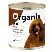 Organix консервы для собак Сочная утка с печенью и тыквой
