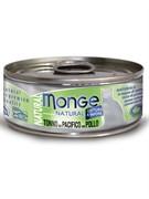 Monge Cat Natural консервы для кошек тихоокеанский тунец с курицей