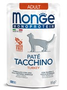 Monge Cat Monoprotein Pouch паучи для кошек индейка 85г