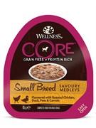 WELLNESS CORE SMALL BREED из курицы с уткой, горошком и морковью для собак мелких пород