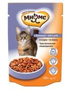 Мнямс паучи для взрослых кошек с ягненком  в соусе, чувствительное пищеварение