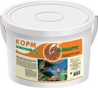 Зоомир гаммарус для рыб, рептилий, земноводных, птиц, пластиковый контейнер 10л  1,000 кг