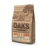 OAK'S FARM корм для взрослых собак всех пород, лосось и криль 12 кг