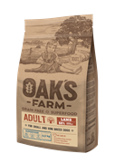 OAK'S FARM корм для взрослых собак всех пород, ягненок