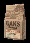 OAK'S FARM корм для щенков всех пород, лосось и криль (юниор 3-12 мес)