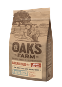 OAK'S FARM корм для стерилизованных кошек, ягненок
