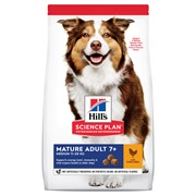 Hill's Science Plan сухой корм для пожилых собак (7+) средних пород с курицей