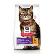 Hills SP Feline Adult Sensitive Stomach & Skin Chicken - Хиллс корм для кошек c чувствительным желудком и кожей