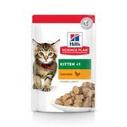 Hills Kitten - Хиллс пауч кусочки в соусе для котят с курой