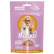 MOLINA Молина Лакомство д/собак мелких пород Косточки с вяленой курицей, 50 г.
