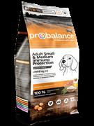 ProBalance Immuno Adult Small Medium Корм сухой для взрослых собак малых и средних пород (15 кг)