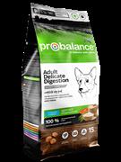 ProBalance Delicate Digestion Корм сухой для взрослых собак всех пород лосось-рис 15 кг