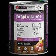 Probalance Adult Gourmet Diet Корм консервированный для взрослых собак c телятиной и кроликом, 850 гр.