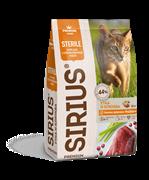 Сухой корм ТМ «SIRIUS» для взрослых кошек Утка с ягодами