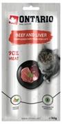 Ontario лакомство для кошек Палочки с говядиной и печенью 3 шт