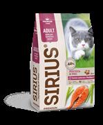 """Сухой корм Sirius (Сириус) """"Лосось и рис"""" для взрослых кошек (10 кг)"""