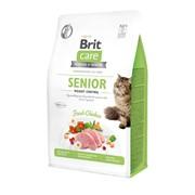 Brit Care Контроль веса: для пожилых кошек старше 7 лет, гипоаллергенный со свежим мясом курицы