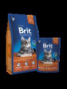 Brit Брит Premium Cat  Indoor курица и печень д/кошек, домаш. содержания 8 кг