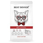 Best Dinner Adult & Kitten Beef & Potato для котят с говядиной и картофелем 10 кг