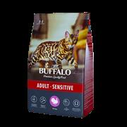 Сухой корм для кошек Mr.Buffalo ADULT SENSITIVE, индейка 10 кг