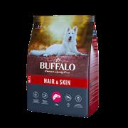 Сухой корм для собак средних и крупных пород Mr.Buffalo HAIR & SKIN CARE, лосось