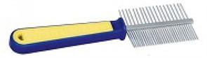 Расческа TRIOL 306  двухсторонняя, сине-желтая ручка 19,5см (пакет)