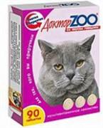 Доктор ЗОО м/в Лакомство д/кошек Говядина 90таб