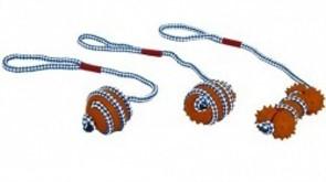 Игрушка для собак Мяч на веревке, латекс, 46см (Rope toy) 140028