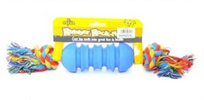 Игрушка для собак резиновая с канатом Гантелька 5,5*41 см