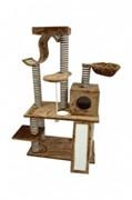 Когтеточка Игровая площадка 80*43*140см, коричневая (Scratcher Pisa) 210121