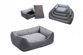 Лежак прямоугольный с подушкой №3, 87*62*24 серый (9403сер)