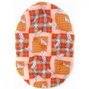 Перина овальная 100*70*10см разноцветная (9526)синтепух