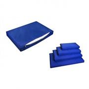 Лежанка прямоугольная с чехлом на молнии №4, 105*70*10см тёмно-синяя (9424син)