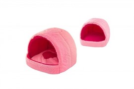 Мягкий домик Розовая пантера, мех, 42*40*36 (9742роз)