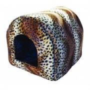Мягкий Домик Леопард N1: 39*34*35см, флок+нейлон (9681)